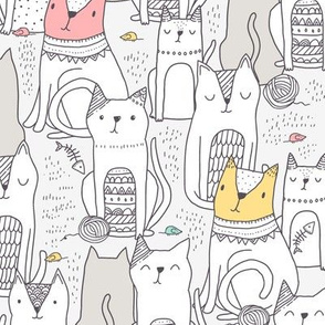 Doodle cats BIG scale