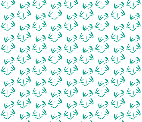 Jade Oriental Tussocks on White fabric by rhondadesigns on Spoonflower - custom fabric