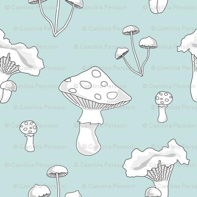 Swedish mushrooms // mint scandinavian forrest food fungi