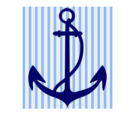 anchor with stripes fabric by snap-dragon on Spoonflower - custom fabric