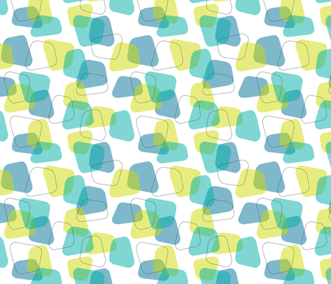 LozengesBlue fabric by fabdeezign on Spoonflower - custom fabric