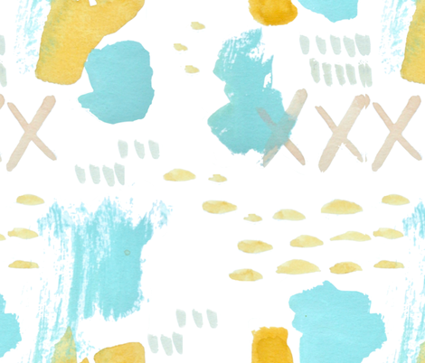 Summer_abstract_repeat fabric by jennifer_rizzo on Spoonflower - custom fabric