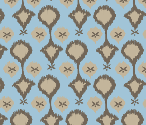 Chocolate Sky Ikat_Miss Chiff Designs fabric by misschiffdesigns on Spoonflower - custom fabric