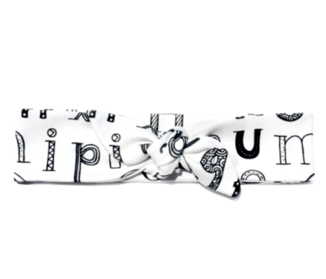 Cool kids alphabet abc back to school design type text font fabric black and white