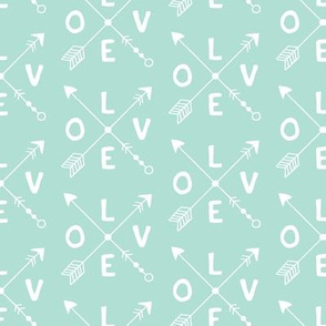 Cupid love romantic indian summer arrows valentine design gender neutral mint
