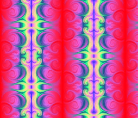 Rainbow Swirl fabric by fulgorine on Spoonflower - custom fabric