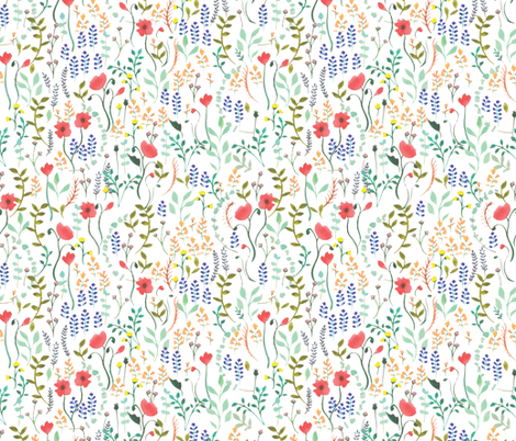 Wildflowers fabric by valeri_nick on Spoonflower - custom fabric