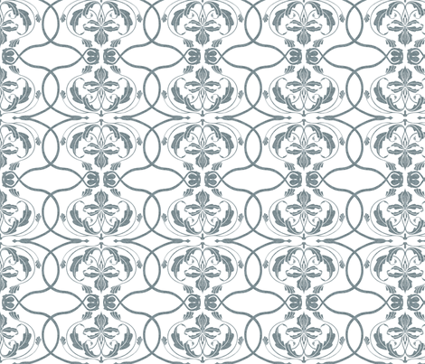 Flowing Damask 2 fabric by lucaswoolleydesigns on Spoonflower - custom fabric