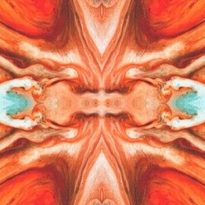 Saturn Planet Surface, Red Abstract