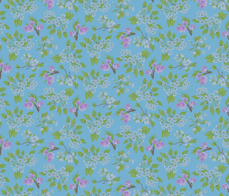 FruitBlossoms fabric by blairfully_made on Spoonflower - custom fabric