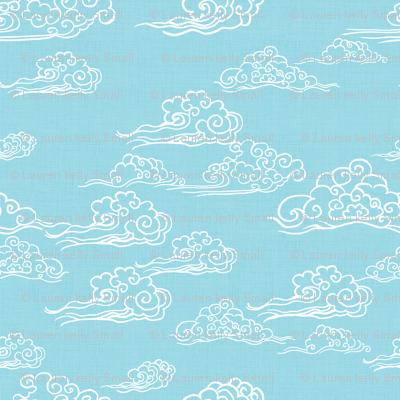 Swirling Clouds, Sky Blue