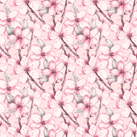 The fragrance of flowers fabric by gribanessa on Spoonflower - custom fabric