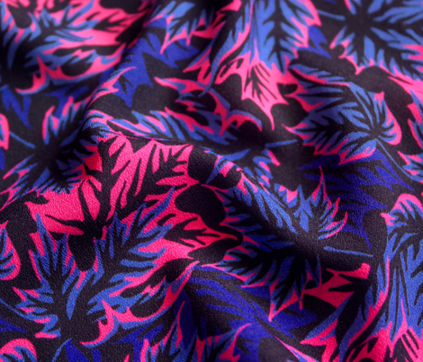 Leaves - Blue/pink