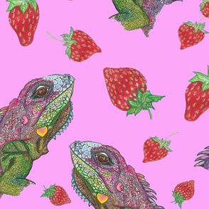 pink iguana kisses