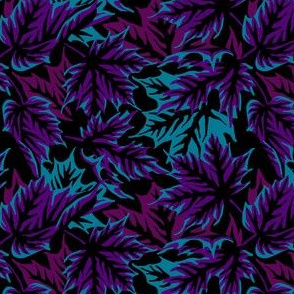 Leaves - Dark purple/teal