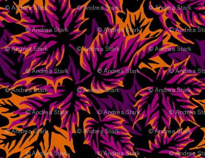 Leaves - Purple/orange