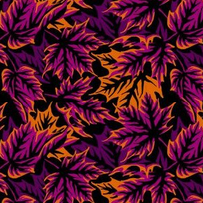 Leaves - Purple/orange