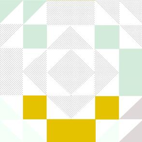 Mint // Mustard  Hamptons HST Quilt