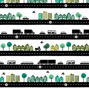 Roads vehicles and the city (small)