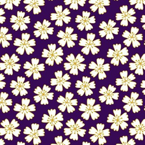 Japanese blossom on dark purple