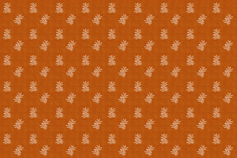 Delicate Fern I, Burnt Red Orange fabric by thistleandfox on Spoonflower - custom fabric