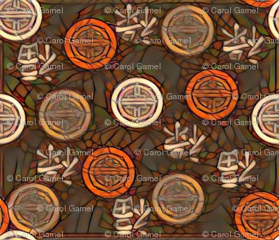 Orange Chinese Medallions