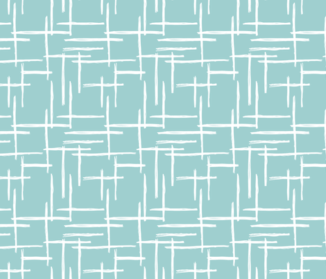 Abstract geometric raster checkered stripe stroke and lines trend pattern grid blue fabric by littlesmilemakers on Spoonflower - custom fabric
