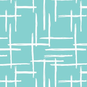 Abstract geometric raster checkered stripe stroke and lines trend pattern grid blue