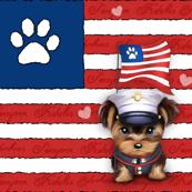 Semper Fidelis Yorkie Marine Puppy Panel