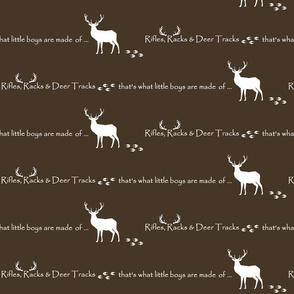 Rifles, Racks & Deer Tracks // crib sheet -  bark