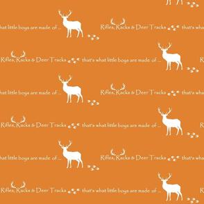 Rifles, Racks & Deer Tracks // crib sheet -  orange
