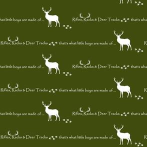 Rifles, Racks & Deer Tracks // crib sheet -  moss