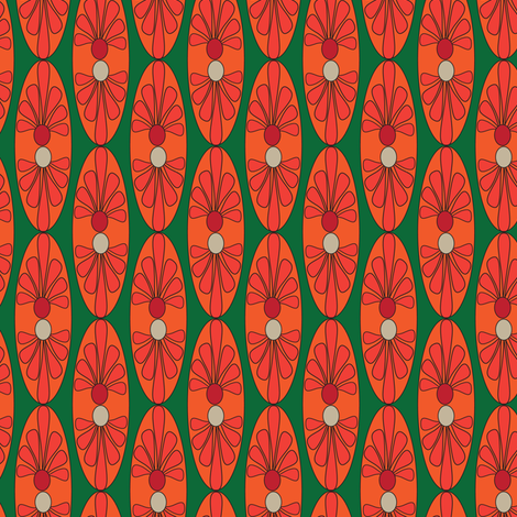 16-13AE Mexican Oval Deep Green_Miss Chiff Designs fabric by misschiffdesigns on Spoonflower - custom fabric