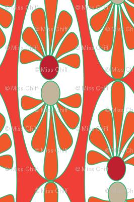 16-13AC Italian Italy Tomato Red Orange Oval Tile || Vine Vegetable Fruit Food Garden Gardener green tan white _ Miss Chiff Designs