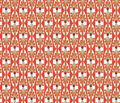 16-13AC Italian Italy Tomato Red Orange Oval Tile || Vine Vegetable Fruit Food Garden Gardener green tan white _ Miss Chiff Designs fabric by misschiffdesigns on Spoonflower - custom fabric