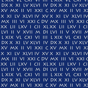 Roman Numerals Blue