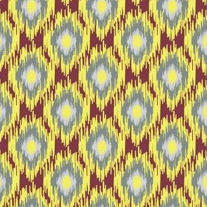 16-15X Modern Ikat || Maroon Red Lemon Yellow Gray Grey _Miss Chiff Designs