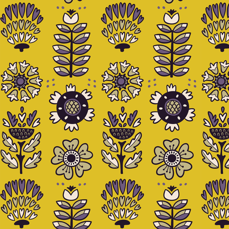 native flora fabric by penguinhouse on Spoonflower - custom fabric