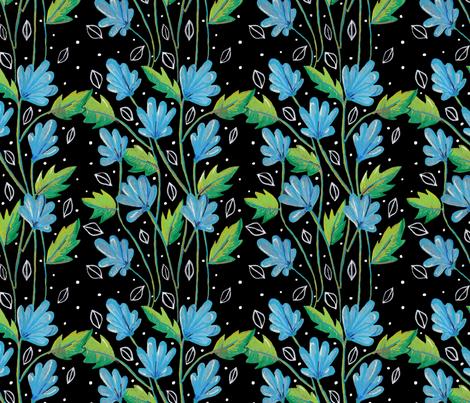 Blue_fan_flowers fabric by frutejuce on Spoonflower - custom fabric