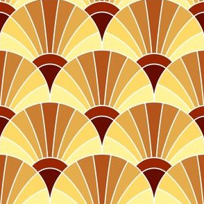 05294839 : fan scale : terracotta cream bisque russet brown earth