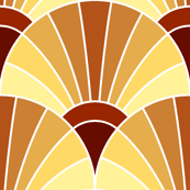 art deco fan scale : terracotta cream bisque russet brown earth