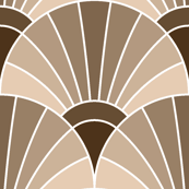 art deco fan scale : beige fawn brown