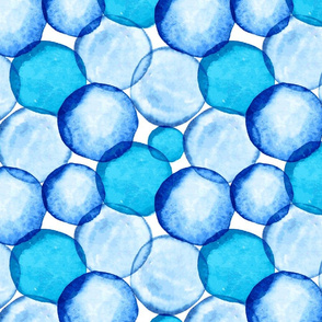 Watercolor Blue Circles