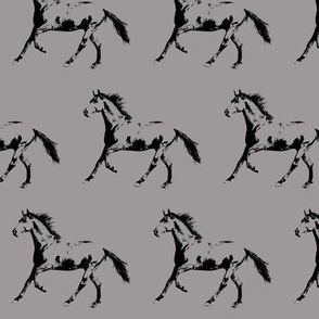 "Horse Trot - Grey - Small (2.5"")"