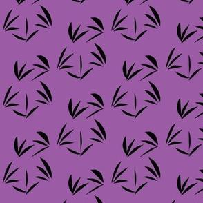 Black Oriental Tussocks on Sweet Violet