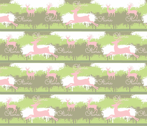 letter amazon pink deer stripes 3 meadow personalized fabric 5286