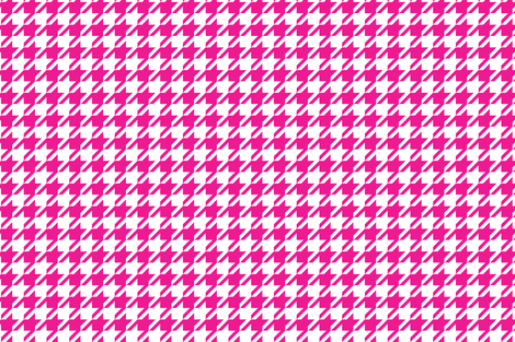 Houndstooth Hot Pink_Miss Chiff Designs  fabric by misschiffdesigns on Spoonflower - custom fabric