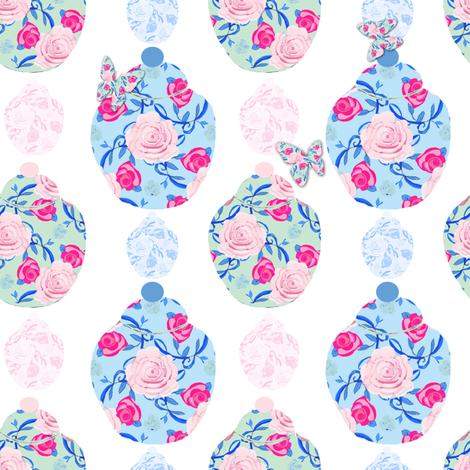 Asian Jars and Butterflies fabric by karenharveycox on Spoonflower - custom fabric