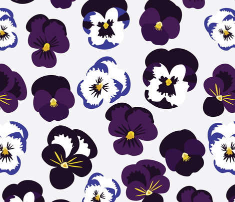 Pansies fabric by vieiragirl on Spoonflower - custom fabric