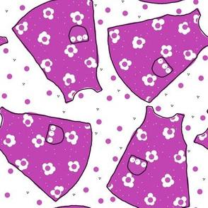 Little Pinafores - bright violet mono